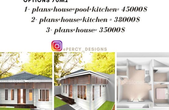 2 Bedrooms 2 Bathrooms + Swimming Pool (to be built)